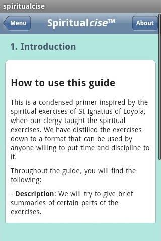 Spiritualcise™ Android Reference