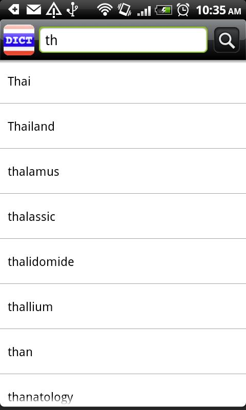 Thai Dict Android Books & Reference