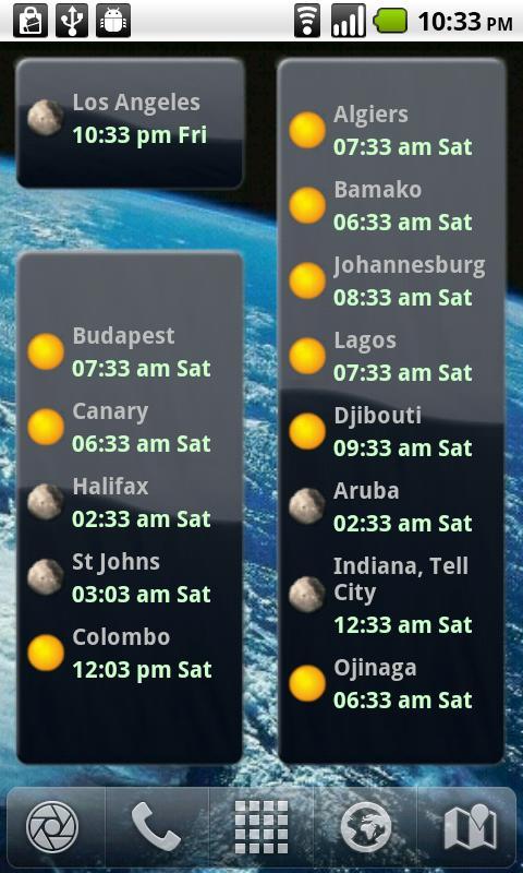 International Clock Widget Android Productivity