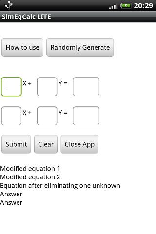 Simultaneous Equation Calc Android Books & Reference