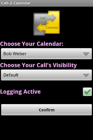Call2Calendar Android Productivity