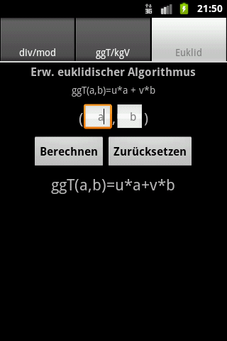 ggT/kgV-Rechner Android Productivity