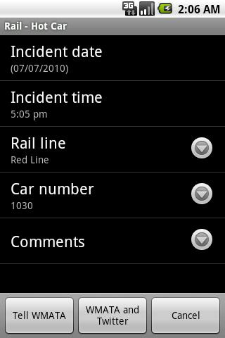 Tell WMATA Android Productivity