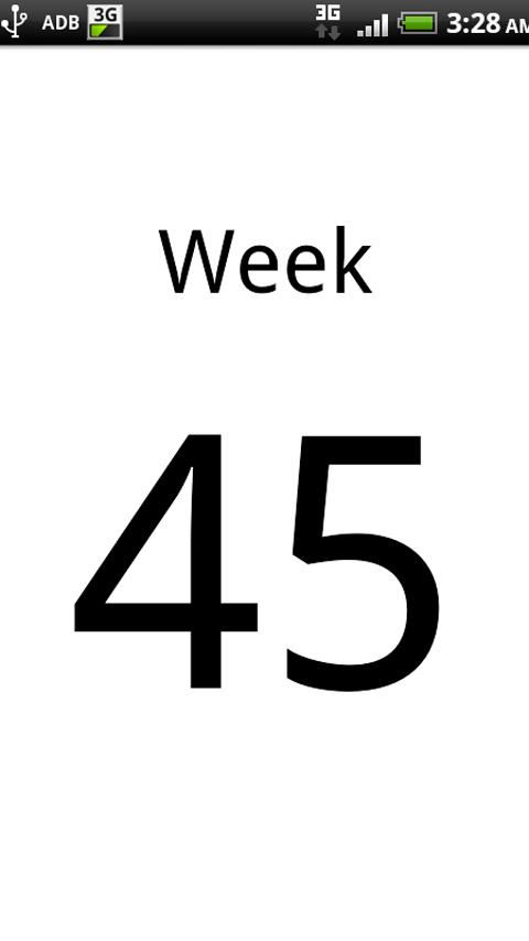 Current Week Number Android Productivity