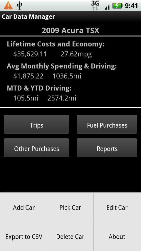 Car Data Manager (Donate) Android Productivity