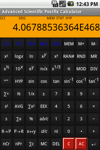 Adv Postfix Calculator Trial Android Productivity