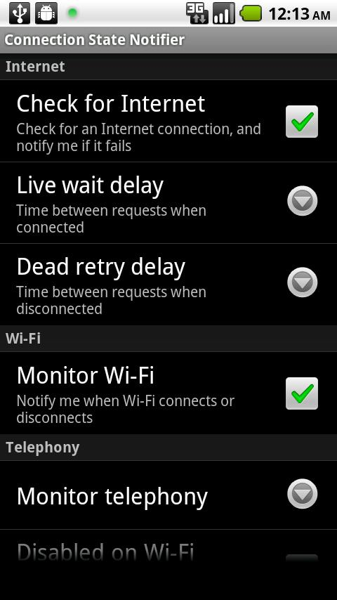 Connection State Notifier Android Productivity