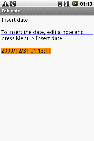 OI Insert Date Android Productivity