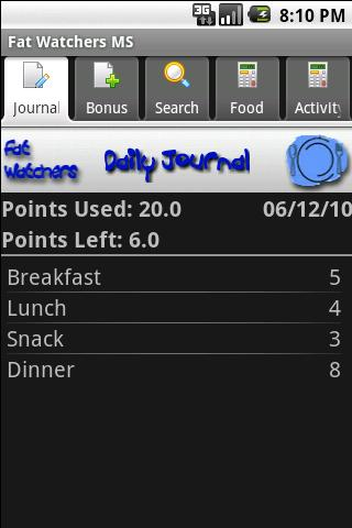 Fat Watchers Plus Android Health