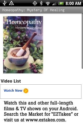Homeopathy: Mystery Of Healing Android Health