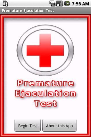 Premature ejaculation Test Android Health