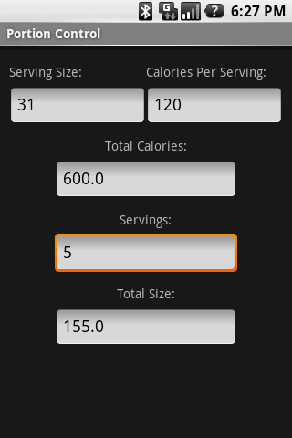 Portion Control Android Health