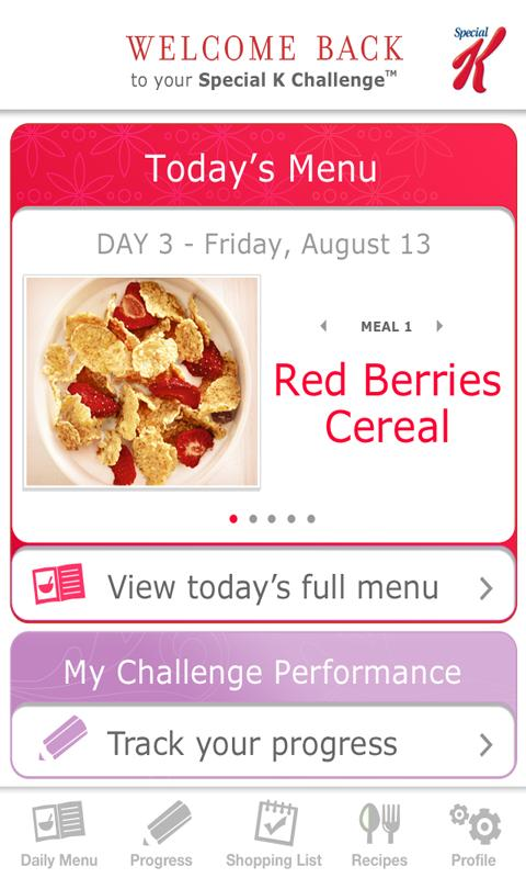 myPlan the Special K Challenge Android Health & Fitness