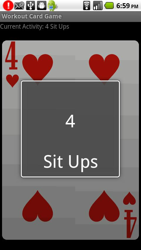 Workout Card Game Android Health