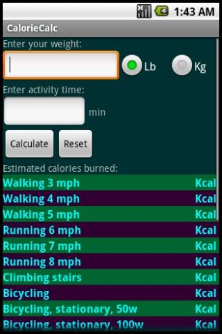 CalorieCalc Android Health
