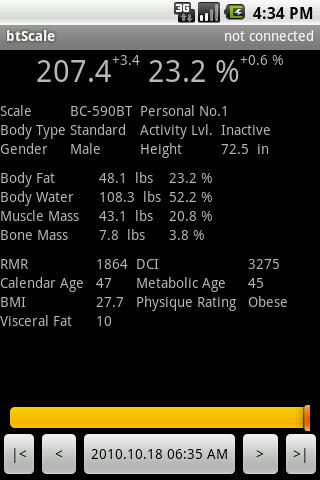 Bluetooth Scale Logger Android Health