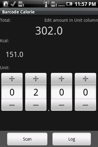 Barcode Calorie Android Health