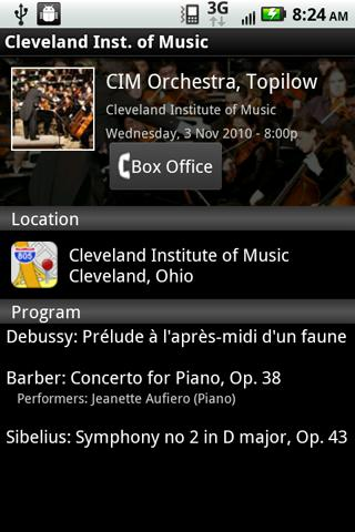 Cleveland Institute of Music Android Multimedia