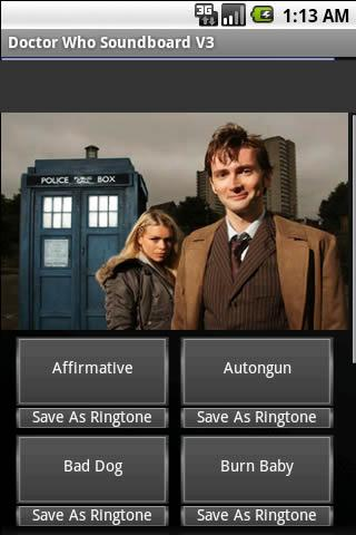 Doctor Who Soundboard v3 Android Multimedia