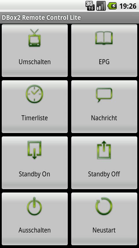 DBox2 Remote Control Lite Android Multimedia