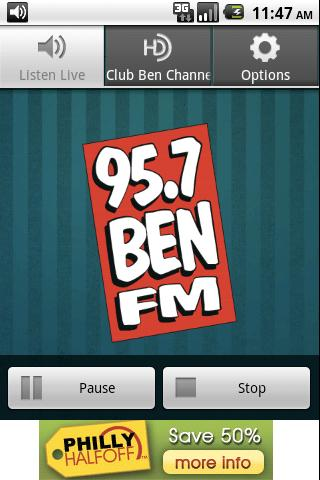 95.7 BEN FM Android Media & Video