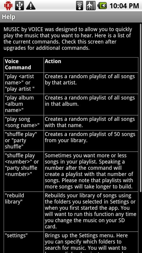 MUSIC by VOICE DEMO Android Multimedia