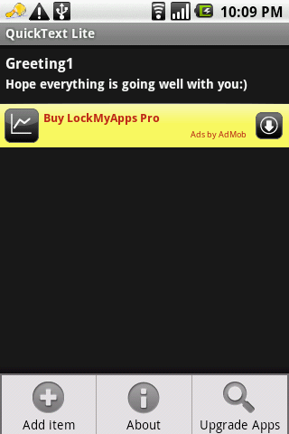 Quick Text Lite Android Social