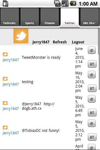 TweetMonster Android Social