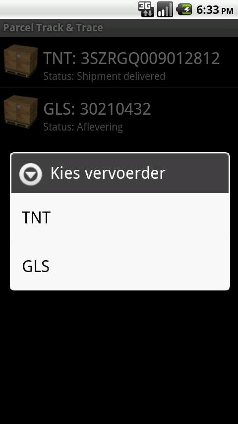 Parcel Track & Trace (beta) Android Shopping