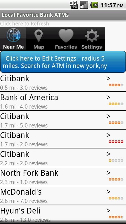 Local Bank ATMs and Locations Android Shopping