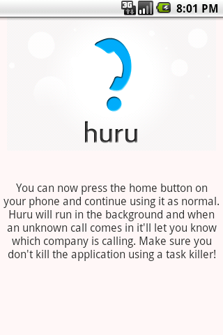 Huru – Caller ID for companies Android Communication