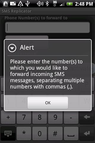 SMS Replicator Android Communication