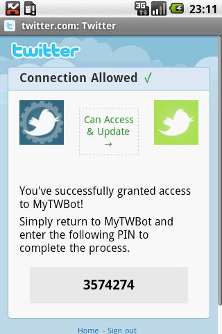 MyTweetDroid Android Communication