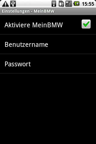 WebSMS: MeinBMW Connector Android Communication