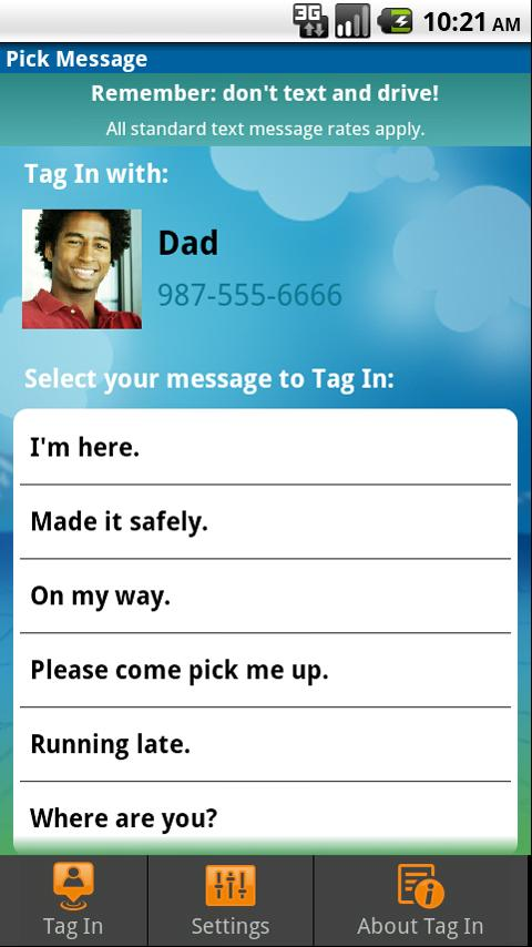 Tag In by Allstate™ Android Communication