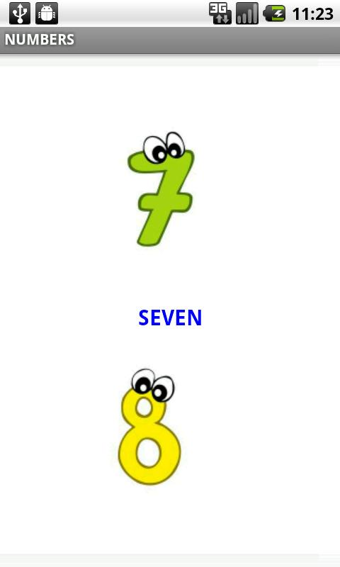 Baby Flash Cards Numbers Android Communication
