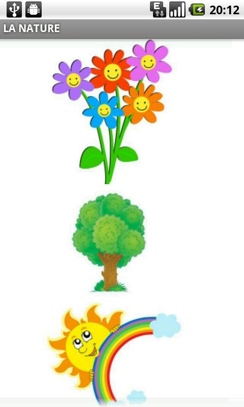 French Flash Cards Nature Android Communication