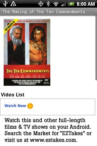 The Making of Ten Commandments Android Entertainment