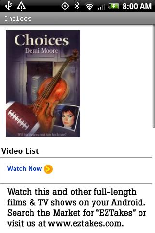 Choices Movie Android Entertainment
