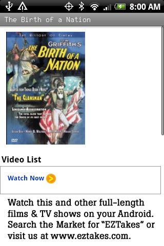 The Birth of a Nation Movie Android Entertainment