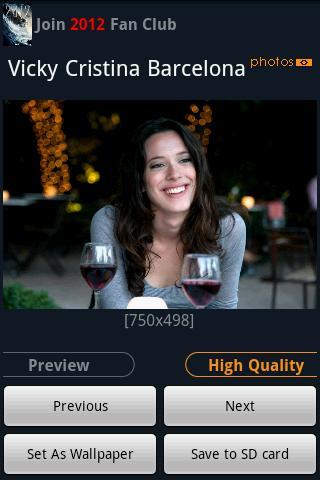 """Vicky Cristina Barcelona"" Android Entertainment"