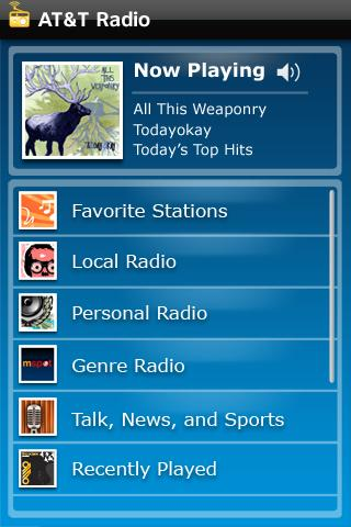 AT&T Radio Android Entertainment