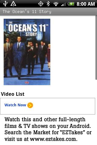 The Ocean's 11 Story Android Entertainment