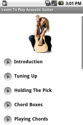 Learn To Play Acoustic Guitar. Android Entertainment