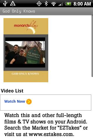 God Only Knows TV Documentary Android Entertainment