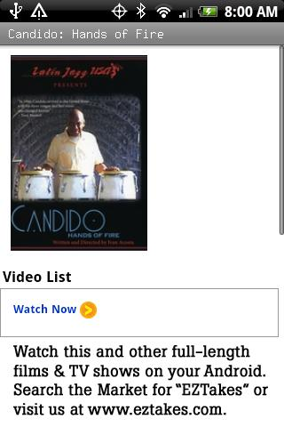 Candido: Hands of Fire Android Entertainment