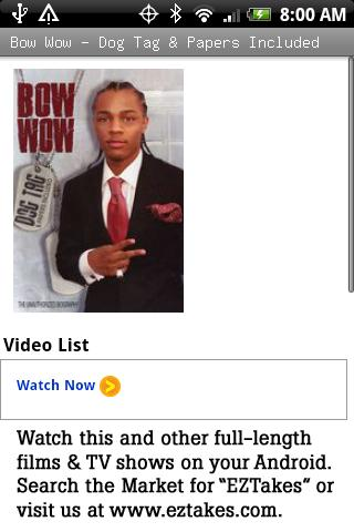 Bow Wow – Dog Tag & Papers Android Entertainment