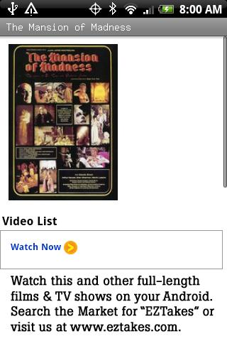 The Mansion of Madness Movie Android Entertainment