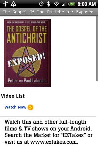 Gospel Of Antichrist: Exposed Android Entertainment