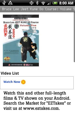 Bruce Lee Jeet Kune Do: Vol 5 Android Entertainment